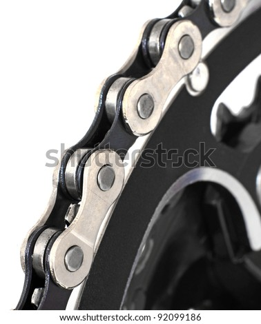 Bike Chain on the Front Chainring