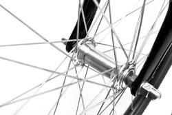 bike detail on white background