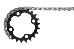 Bike drive-train with chain