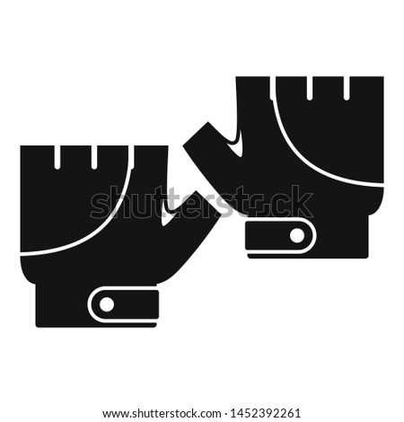 Bike gloves icon. Simple illustration of bike gloves icon for web design isolated on white background