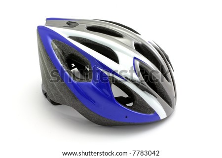 Bike helmet isolated on white