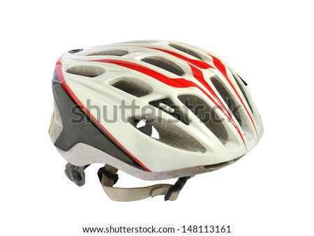 Bike helmet isolated on white background #148113161