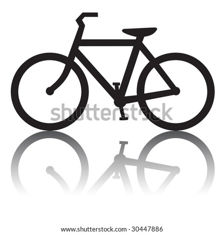 Bike icon with reflection