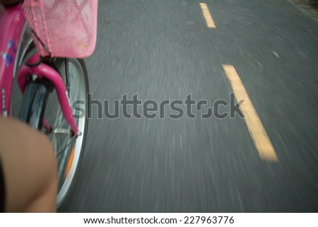 Bike lanes for bicycles blur. #227963776