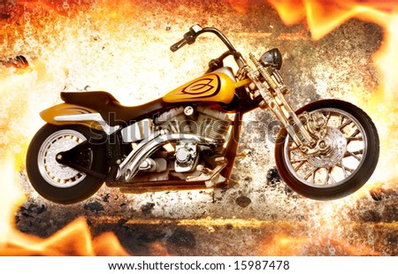 Bike on fire