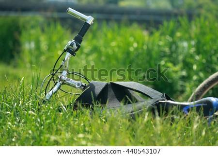 bike on grass #440543107