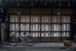 Bike or bicycle at old district house at historical preserved Takayama town in Japan. Famous travel landmark and easier to ride bike to visit all ancient areas.