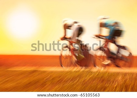 Bike race, Motion Blur