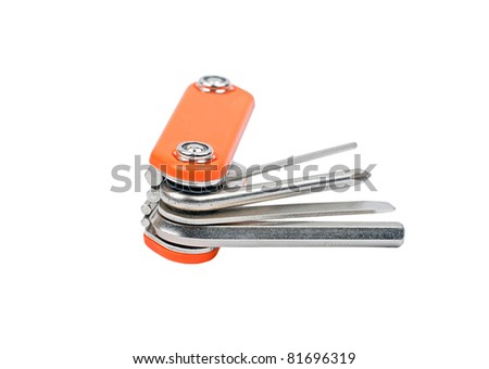 Bike repair tool key, isolated on a white background