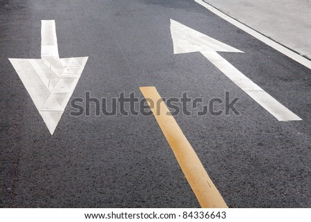 bike road sign and arrow