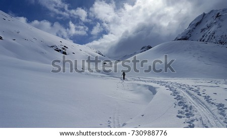 Bike tour and Ski tour to the top of Hurrungen in Norway #730988776