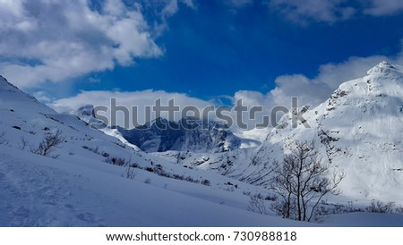 Bike tour and Ski tour to the top of Hurrungen in Norway #730988818