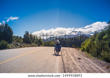 Bike tour by the Seven Lakes, Patagonia - Argentina.