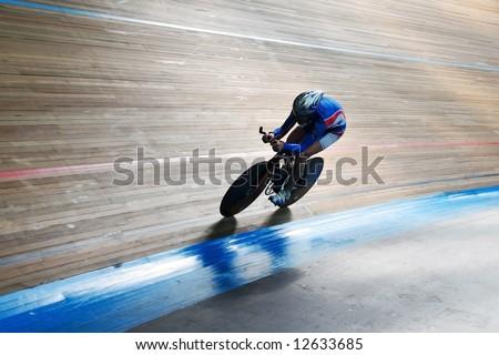 bike track racing - stock photo