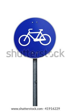 Bike track sign road sign