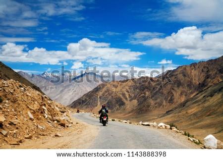 Bike Trip in Himalayas, Leh, Ladakh, Kashmir, India.