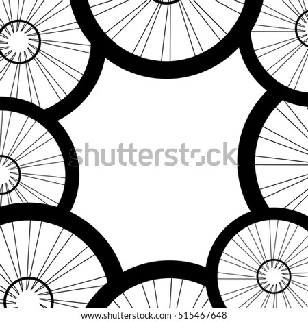 bike wheels background pattern. Pattern of bicycle wheels. bicycle wheels with tyre and spokes #515467648