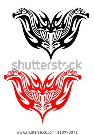 biker tattoos with fire tribal