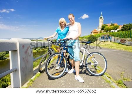 bikers, Melnik, Czech Republic