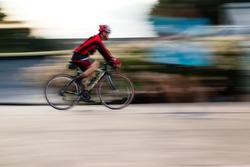Biking taken with low speed shutter