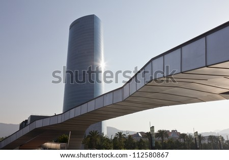 BILBAO, SPAIN-SEPTEMBER 7: Tower of power company Iberdrola in Bilbao, Spain, in September 7, 2012. It is the most important business center of the city.