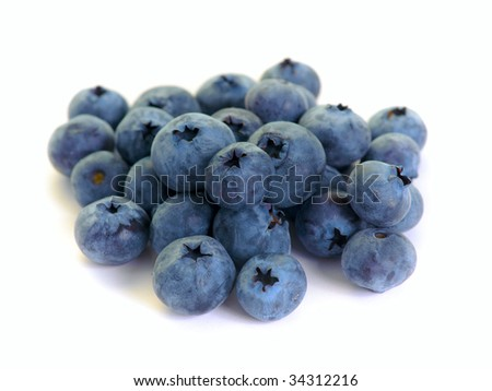 bilberry isolated on the white background #34312216