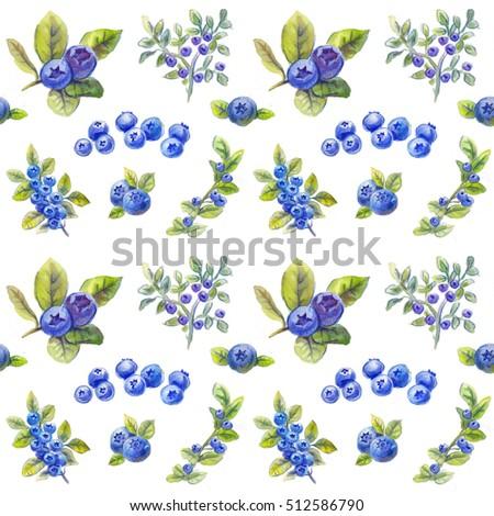 bilberry pattern, blueberries texture