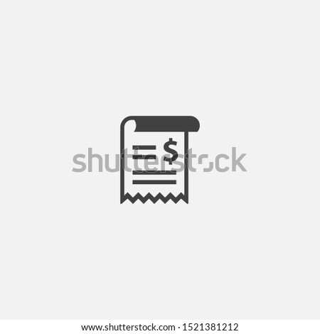 bill base icon. Simple sign illustration. bill symbol design. Can be used for web, print and mobile