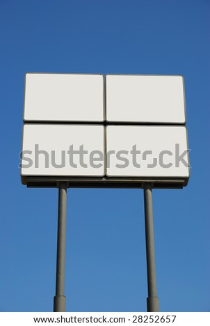 bill board with blank space for your own message