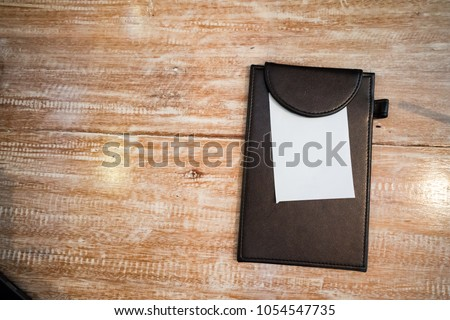 Bill folder with white paper