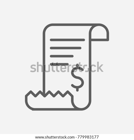 bill invoice icon line symbol isolated illustration of tax sign
