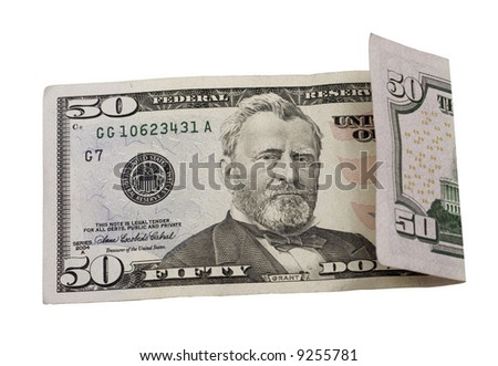 bill isolated on a white background