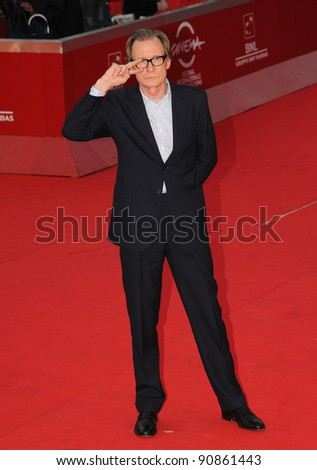 """Bill Nighy attends the premiere of """"Page Eight"""" during the 6th International Rome Film Festival. November 1, 2011, Rome, Italy Picture: Catchlight Media / Featureflash - stock photo"""