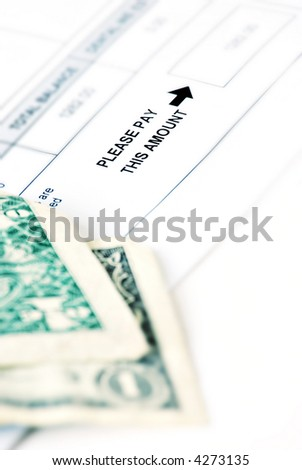 "bill with ""please pay this amount"" - stock photo"
