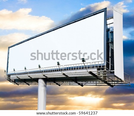 Billboard at sunset
