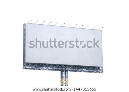 billboard blank.billboard blank isolated on white background