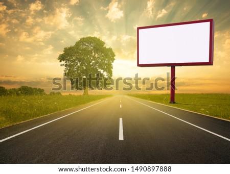 Billboard, Highway advertising advertising space