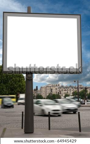 Billboard in the street - Shutterstock ID 64945429