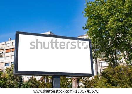 billboard mockup and template blank advertising with copy space for your text message or media and content, city background display exterior.