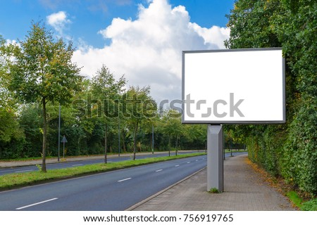 billboard mockup in german city