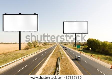 Billboard on american toll way