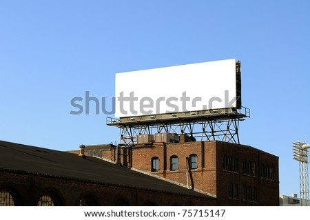 Billboard on Brick Building