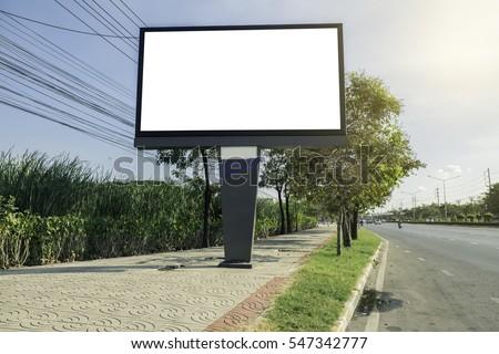 Billboard on Country Road - Shutterstock ID 547342777