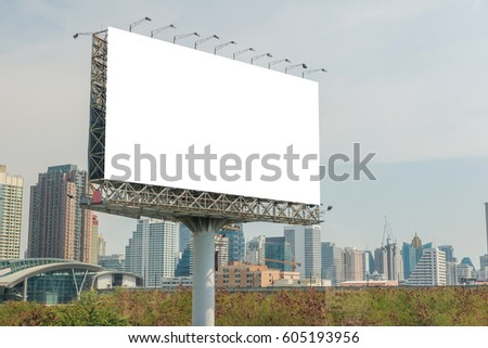 billboard or advertising poster for advertisement concept background.