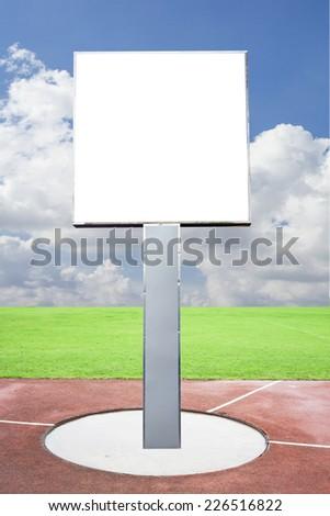 billboard sign on sport field