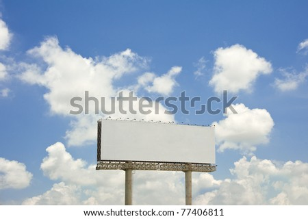 billboard with blue sky