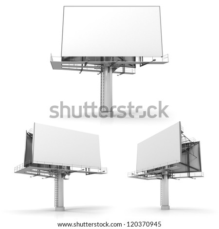 Billboard with copy space, isolated on white