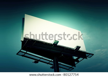 Billboard with creative light