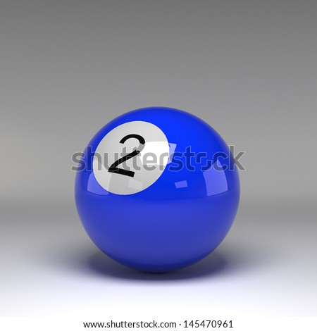 Billiard ball isolated on white