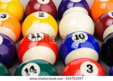Billiard balls in box
